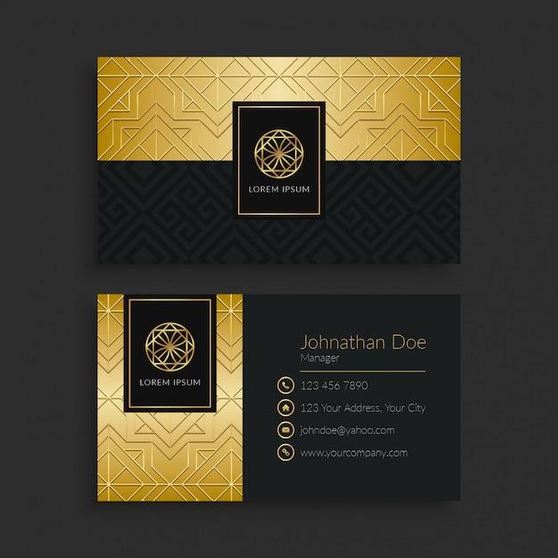 Modello di biglietto da visita di lusso Vettore Premium