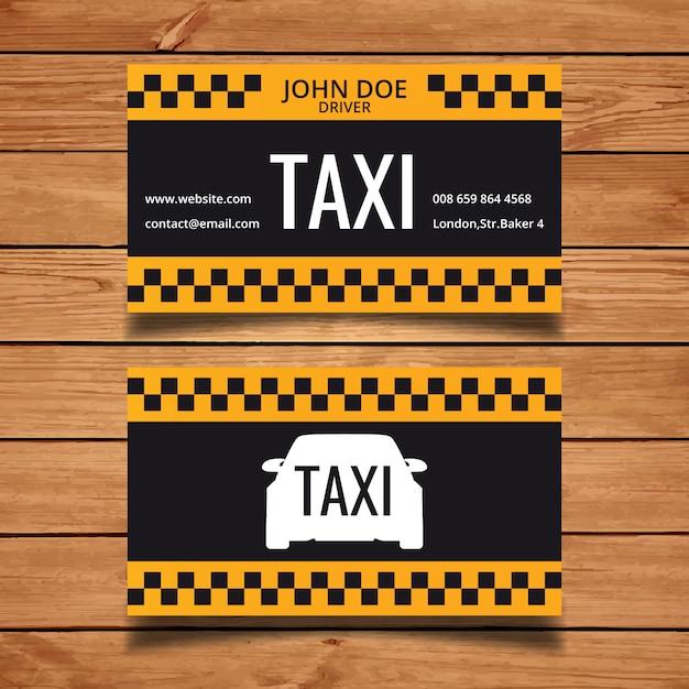 Modello di biglietto da visita di taxi Vettore gratuito