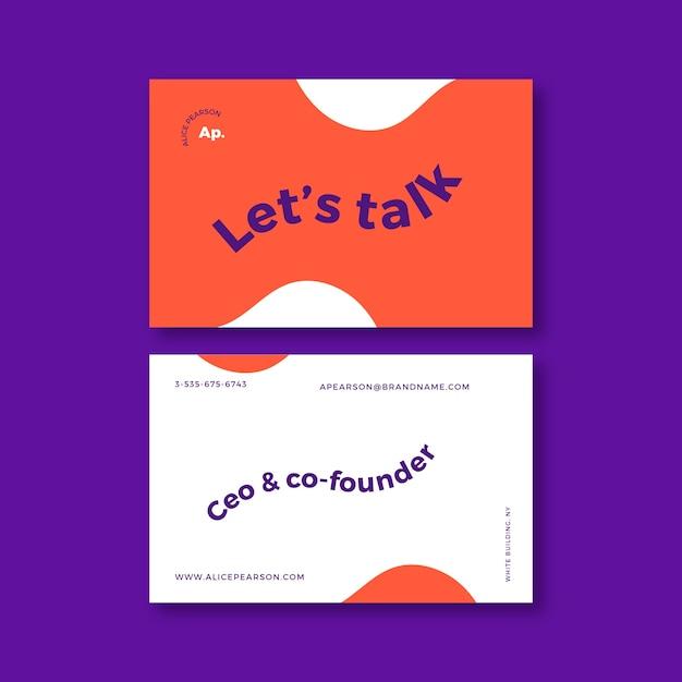 Modello di biglietto da visita divertente graphic designer Vettore gratuito