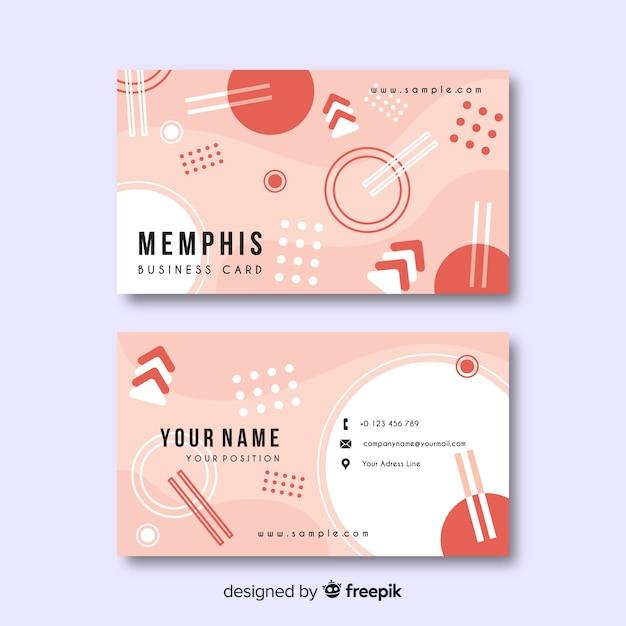 Modello di biglietto da visita in stile memphis Vettore gratuito