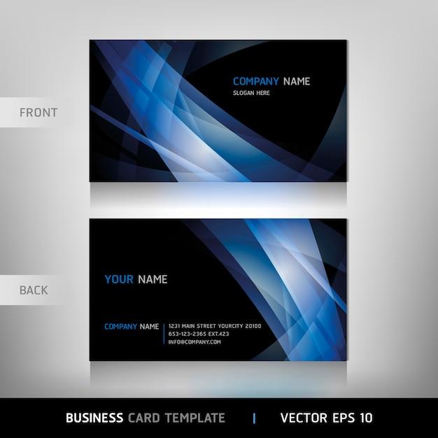 Modello di biglietto da visita Vettore Premium