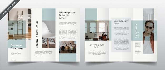 Modello di brochure a tre ante minimal moderno Vettore Premium