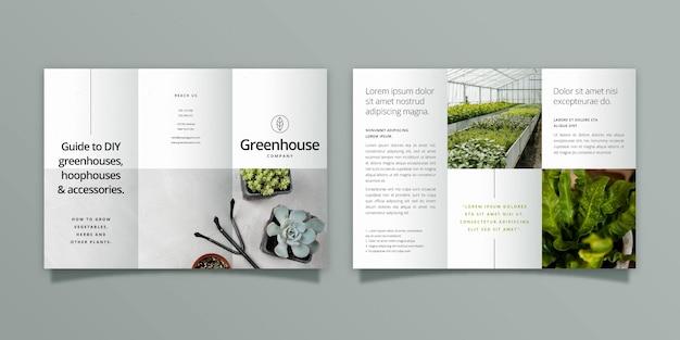 Modello di brochure a tre ante minimo con fronte e retro Vettore gratuito