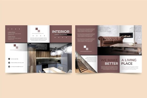 Modello di brochure a tre ante minimo Vettore gratuito