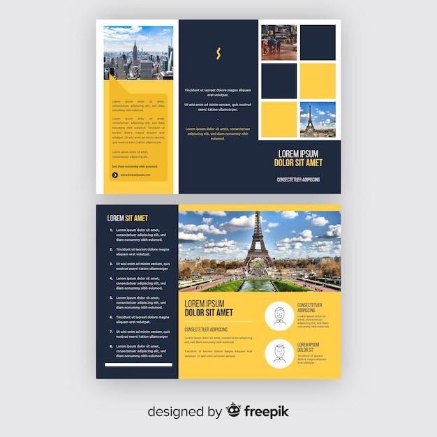 Modello di brochure a tre ante Vettore gratuito