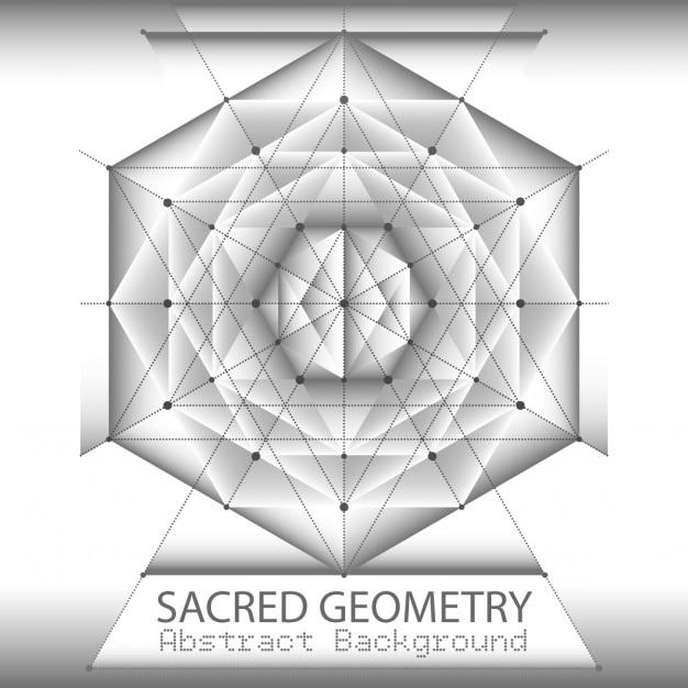 Modello di brochure astratto con il disegno geometria sacra Vettore gratuito