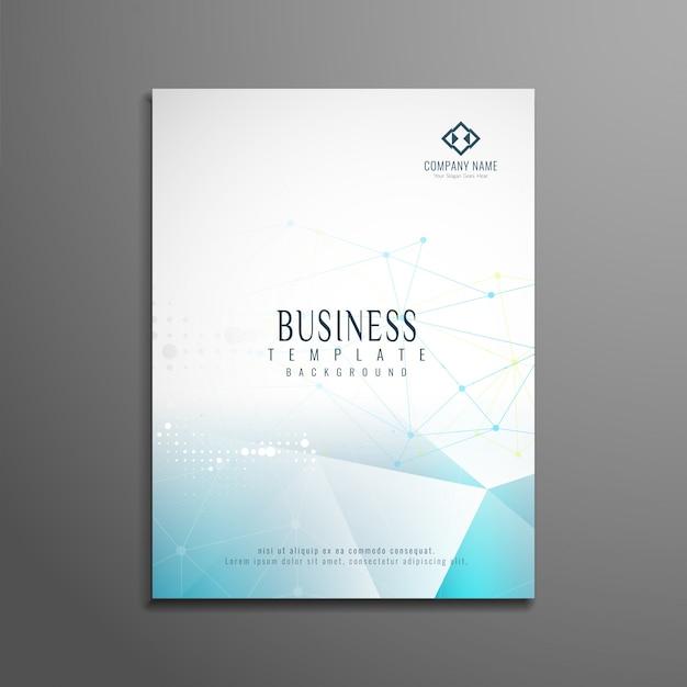 Modello di brochure astratto di bsuiness Vettore gratuito