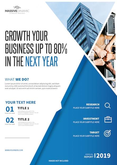 Modello di brochure aziendale elegante Vettore gratuito