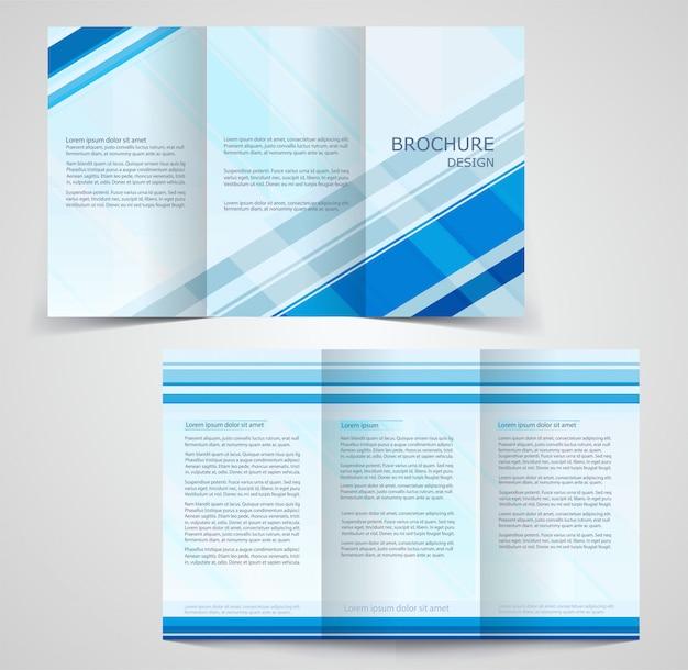 Modello di brochure aziendale ripiegabile, modello di progettazione su due lati Vettore Premium