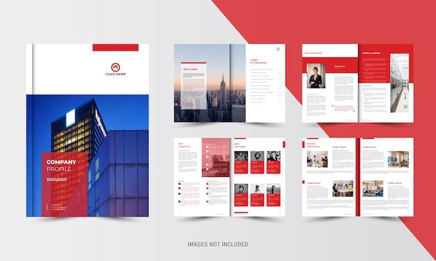 Modello di brochure aziendale rosso Vettore Premium