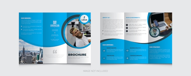 Modello di brochure aziendale Vettore Premium