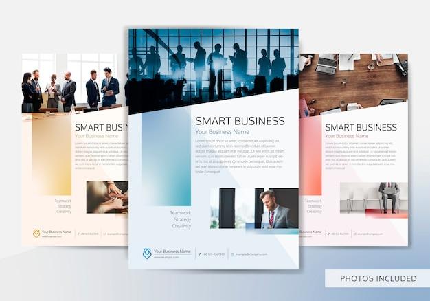 Modello di brochure aziendale Vettore gratuito