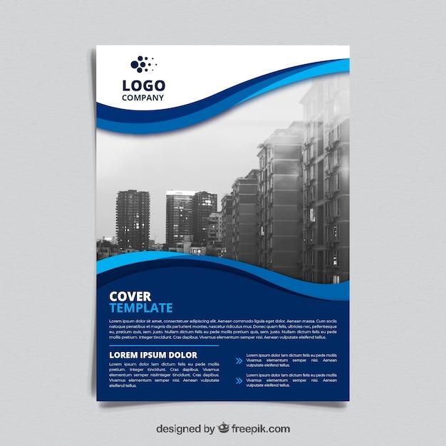 Modello di brochure aziendali Vettore gratuito