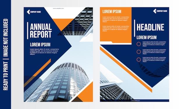 Modello di brochure di business moderno Vettore Premium