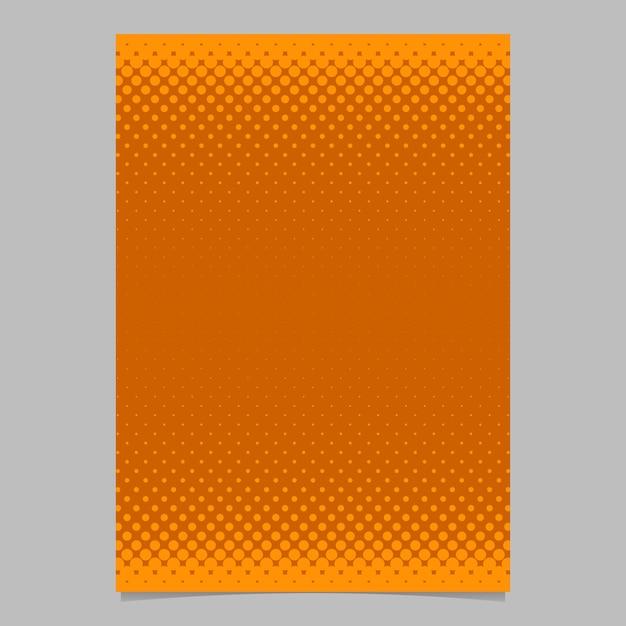 Modello di brochure di pattern mezza puntino mezzitoni arancione - illustrazione di sfondo flyer vettoriale con cerchi colorati Vettore gratuito