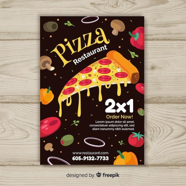 Modello di brochure ingredienti pizza Vettore gratuito