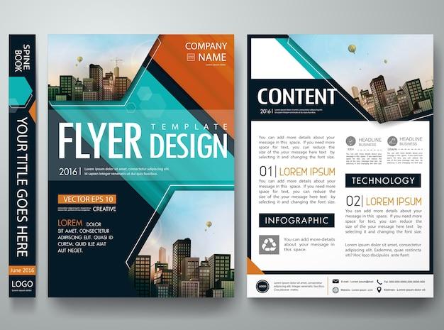 Modello di brochure portfolio portfolio di copertina. Vettore Premium