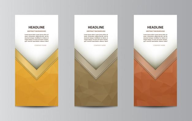 Modello di brochure ripiegabile Vettore Premium
