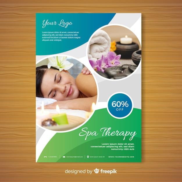 Modello di brochure spa Vettore gratuito