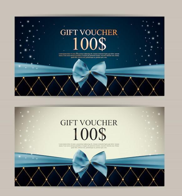 Modello di buono regalo per il tuo business Vettore Premium
