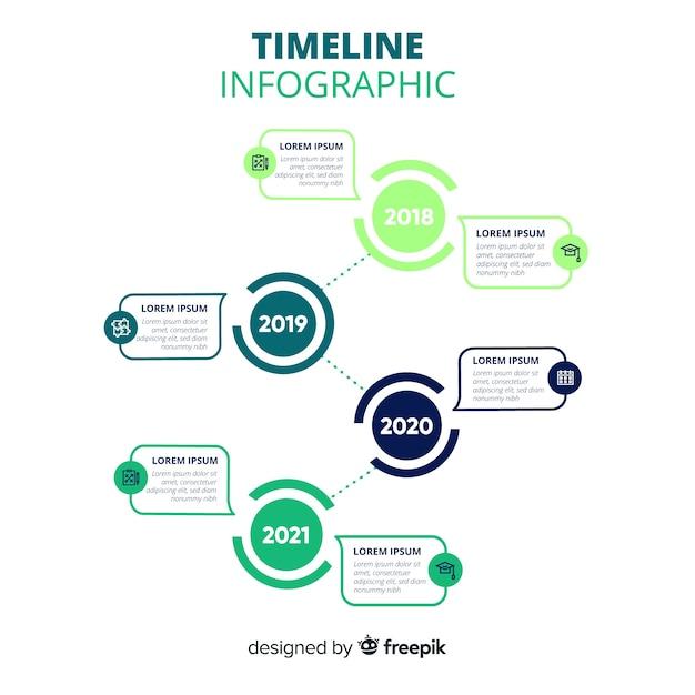 Modello di business aziendale infografica, composizione di elementi di infografica Vettore gratuito