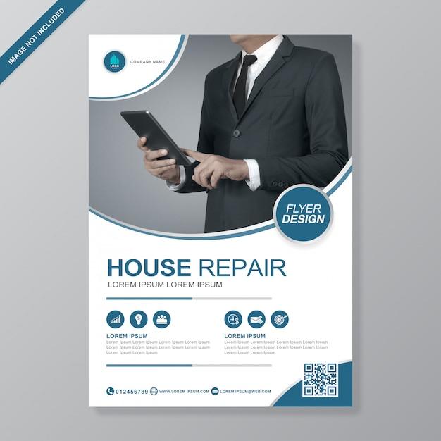 Modello di business copertina a4 flyer design Vettore Premium