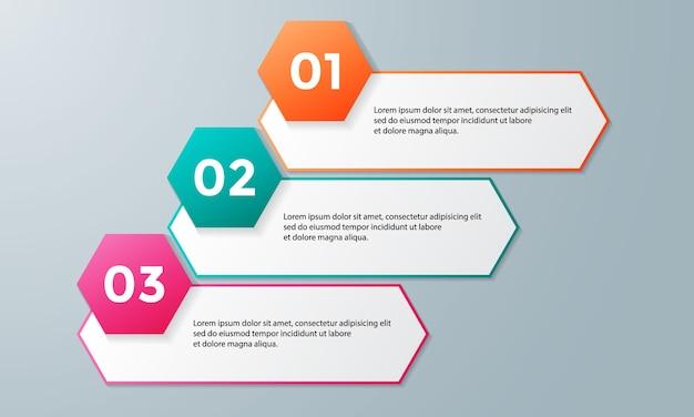 Modello di business di vettore per la presentazione. Vettore Premium