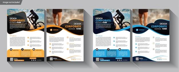 Modello di business flyer per brochure copertina aziendale Vettore Premium