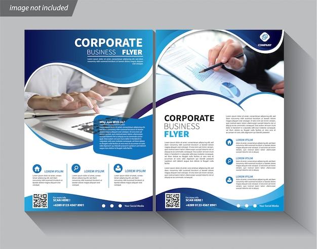 Modello di business per flyer aziendale Vettore Premium