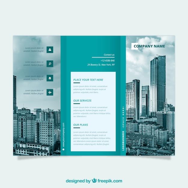 Modello di business trifold flyer Vettore gratuito