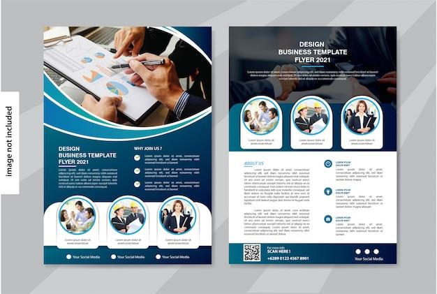 Modello di business volantino per brochure copertina aziendale Vettore Premium