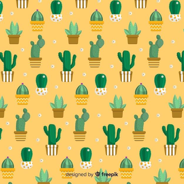 Modello di cactus Vettore gratuito