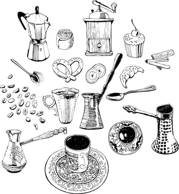 Modello di caffè Vettore gratuito