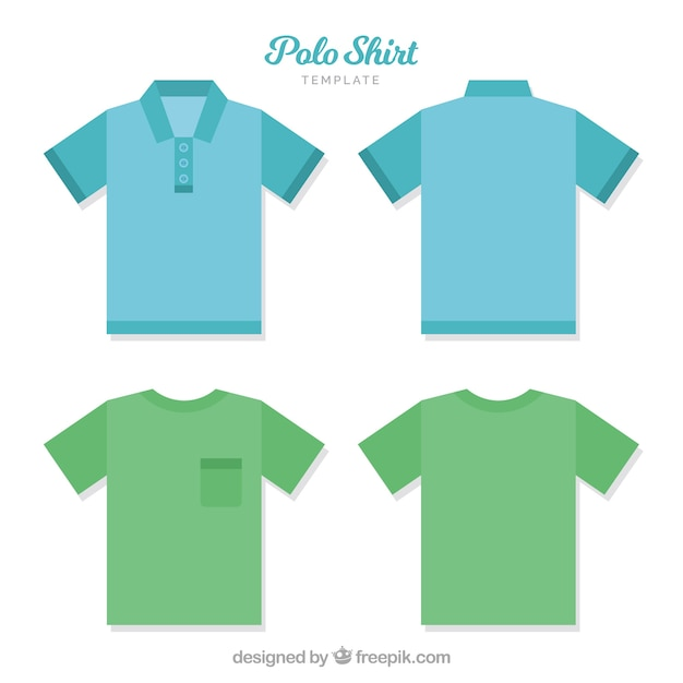Modello di camicia da polso con bottoni e tasca Vettore gratuito