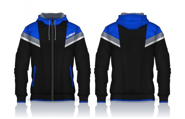 Modello di camicie con cappuccio Vettore Premium