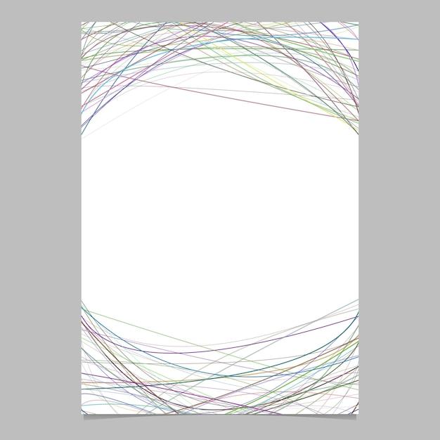 Modello di cancelleria con strisce curve caotiche - disegno di pagina vettoriale su sfondo bianco Vettore gratuito