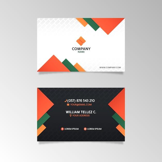 Modello di carta azienda astratta Vettore gratuito