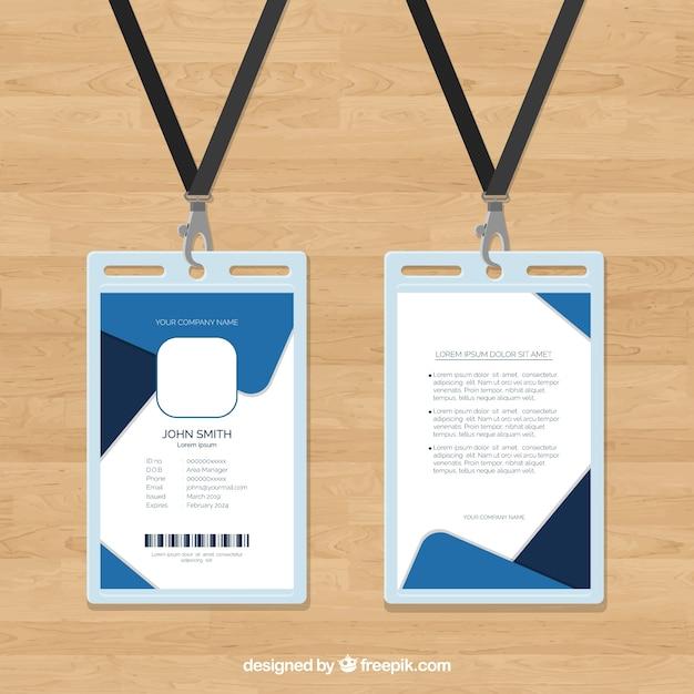 Modello di carta d'identità Vettore gratuito