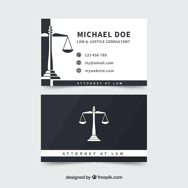 Modello di carta dell'avvocato Vettore gratuito