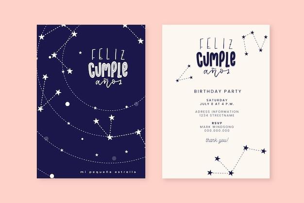 Modello di carta di buon compleanno Vettore gratuito