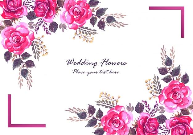 Modello di carta di fiori colorati decorativi astratti Vettore gratuito