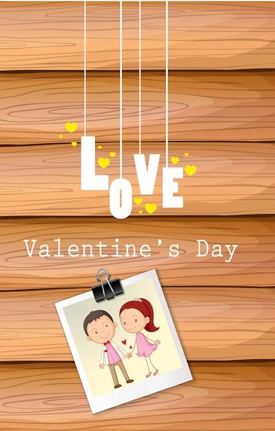 Modello di carta di giorno di san valentino Vettore gratuito
