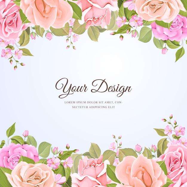 Modello di carta di invito bel matrimonio Vettore gratuito