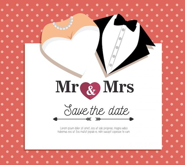 Modello di carta di invito matrimonio Vettore gratuito