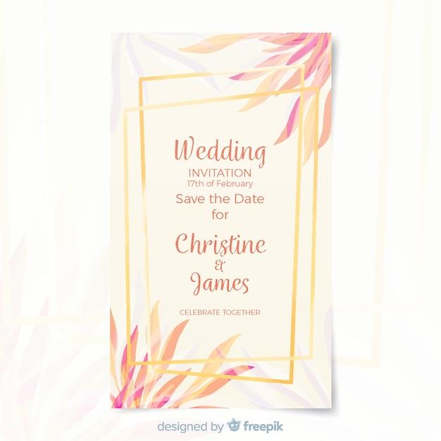 Modello di carta di nozze Vettore gratuito