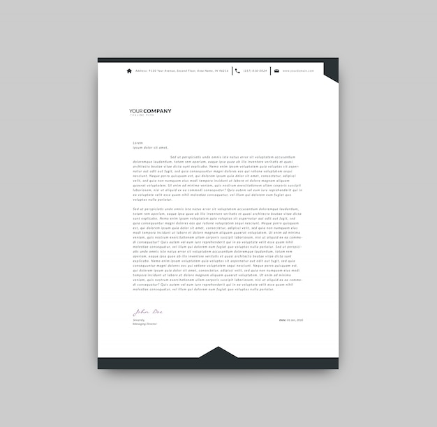 Preferenza Modello di carta intestata in bianco e nero | Scaricare vettori gratis CC17