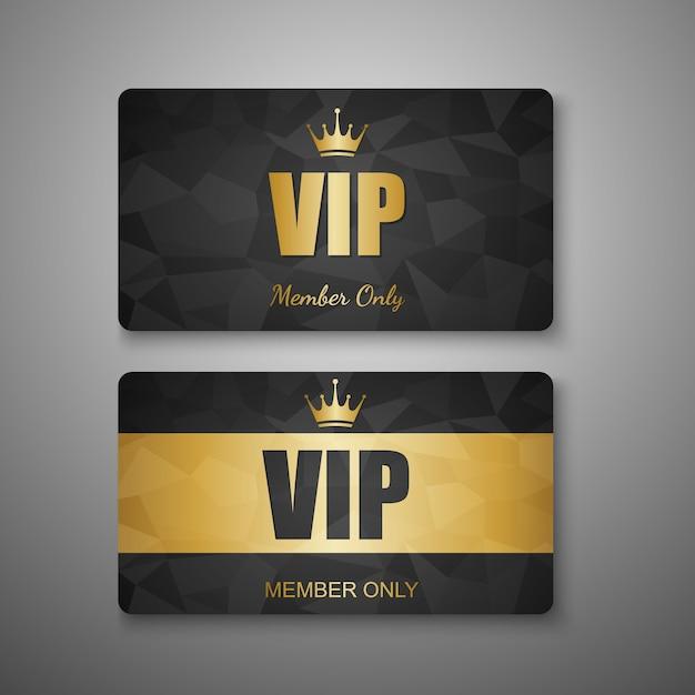 Modello di carta vip Vettore Premium