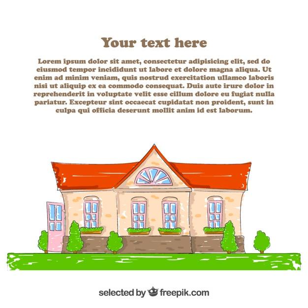 Modello di casa disegnata a mano scaricare vettori gratis for Costruttore di casa gratuito