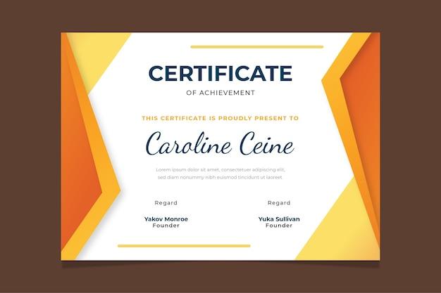 Modello di certificato geometrico astratto Vettore gratuito