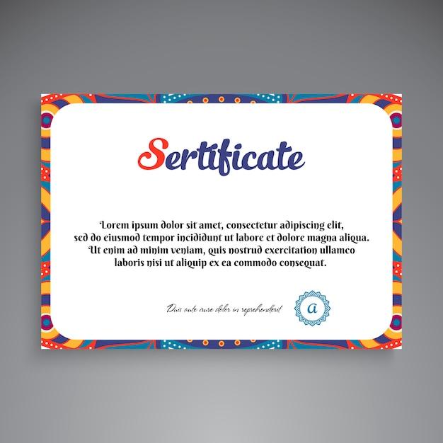Modello di certificato professionale Vettore gratuito